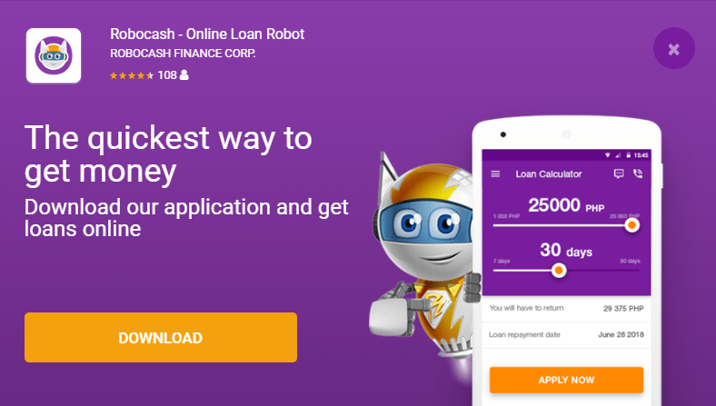 Robocash mobile application (android)