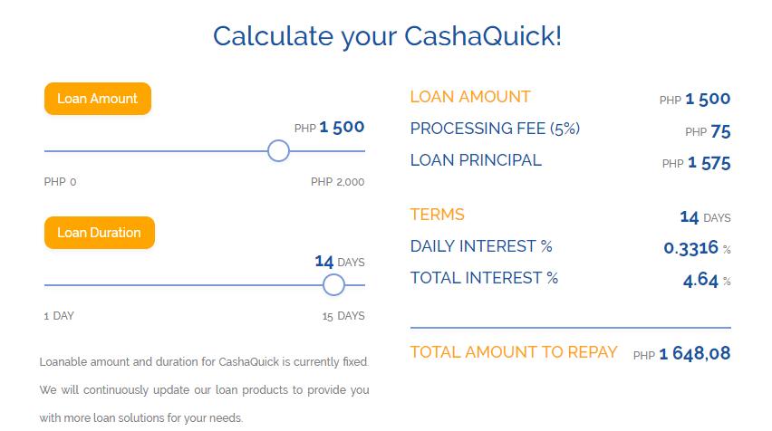 Cashalo CashaQuick