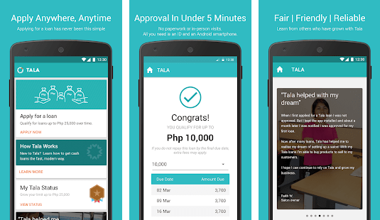 Tala Philippines Mobile Application
