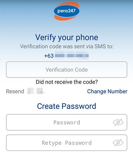 Pera247 how to verify your phone