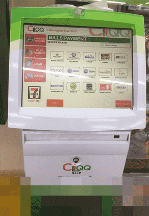 Cliqq Machine in the Philippines to repay loan Moneycat PH