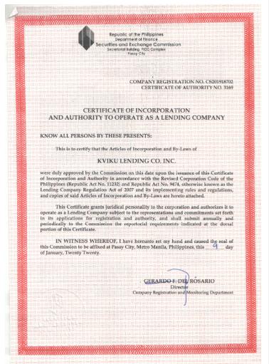 Kviku Certificate