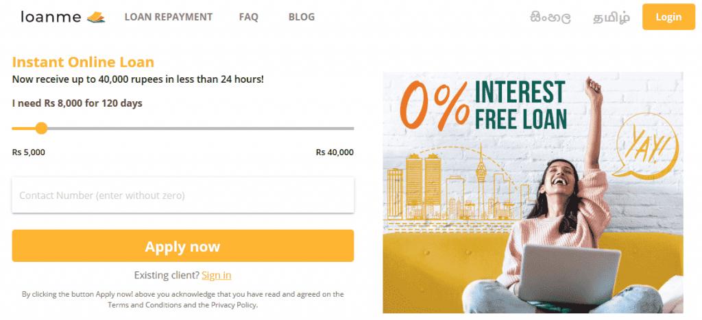 Apply loan online in Sri Lanka with Loanme