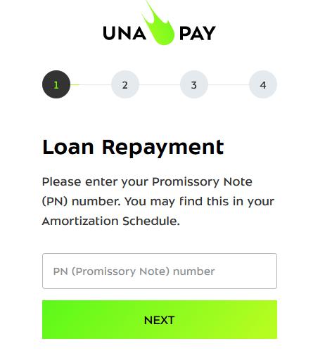 unapay repayment