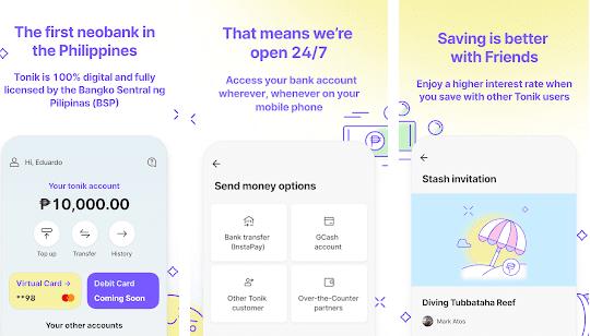 tonik bank app