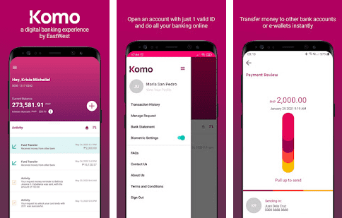 komo app for Android, iOS, Huawei phones